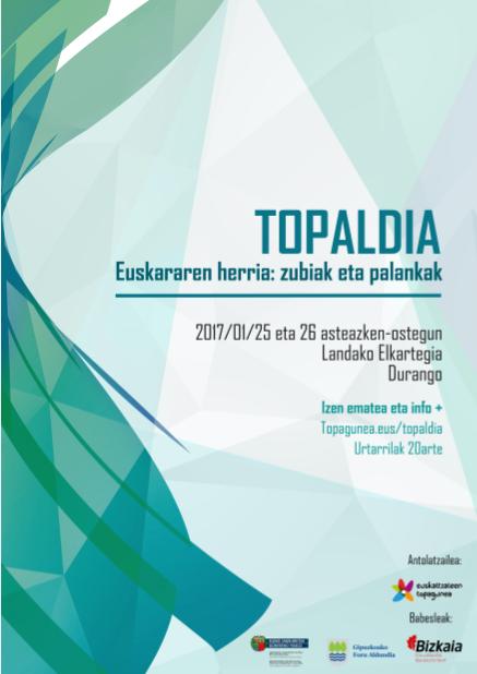 Urtarrilaren 25 eta 26an egingo da Topaldia