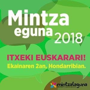 Mintza Eguna: Hondarribian izango da ekainaren 2an